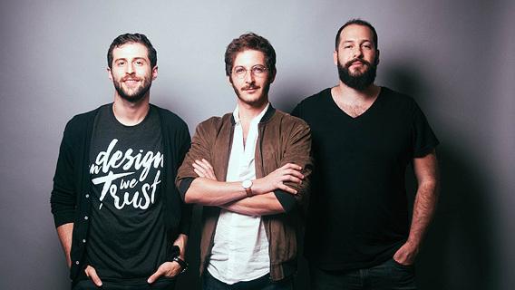 Los cofundadores de Tailor Brands, Tom Lahat, Yali Saar y Nadav Shatz.