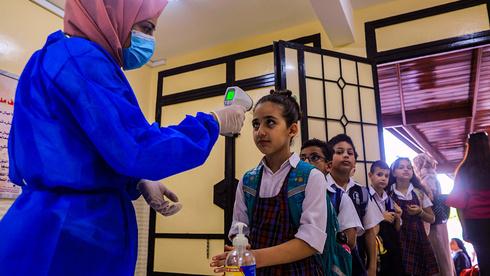 Reapertura de los colegios en Gaza poco tiempo antes de la segunda ola de contagios.