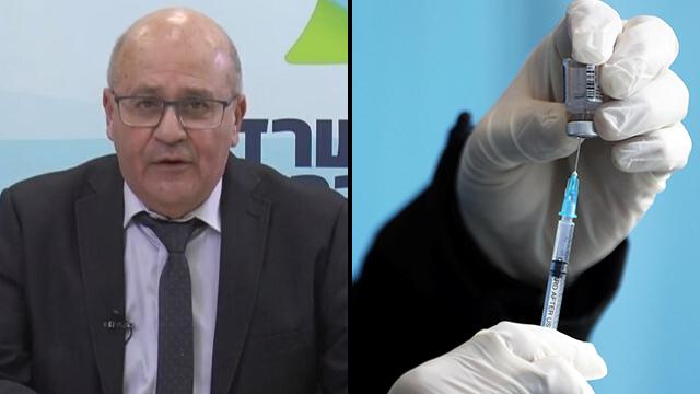 El director general del Ministerio de Salud, el profesor Hezi Levi, y la vacuna de Pfizer.