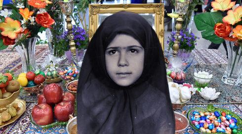 Aylin Sedighi Gabbaizadeh durante su infancia en Irán y la mesa de Haft-Sin, en la que los iraníes celebran Nowruz, el año nuevo persa.