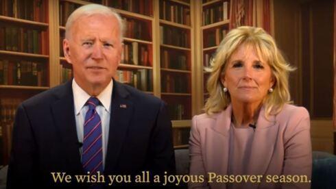 Joe y Jill Biden envían un mensaje de Pésaj desde la Casa Blanca.