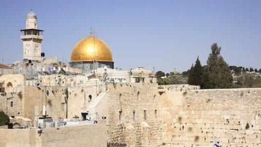 Muro de los Lamentos y Monte del Templo en Jerusalem.