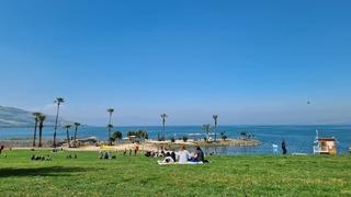 Playa en el Mar de Galilea.