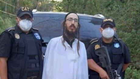 Yaakov Weingarten, referente de Lev Tahor arrestado en Guatemala.