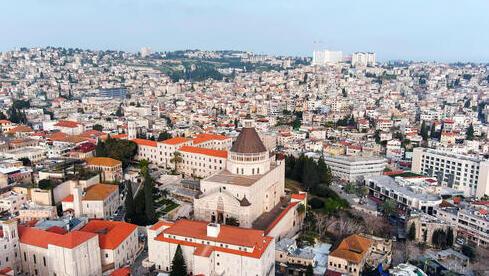 Basílica de la Anunciación en Nazaret, en el norte de Israel.