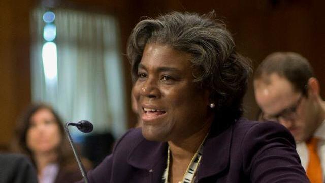 Linda Thomas-Greenfield, embajadora de Estados Unidos ante la ONU.