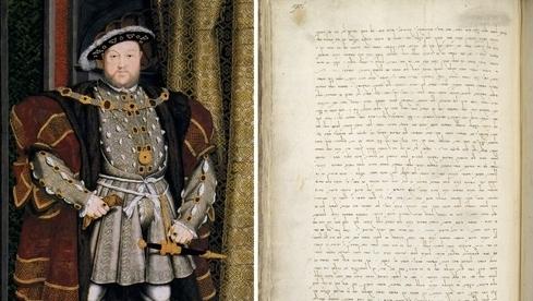 El rey Enrique VIII y la carta del rabino italiano Jacob Raphael.