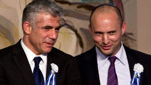Los líderes de Yehs Atid, Yair Lapid, y Yamina, Naftali Bennett.
