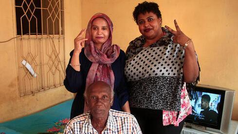 Miembros de la familia de Mansour Israil, en Sudán.