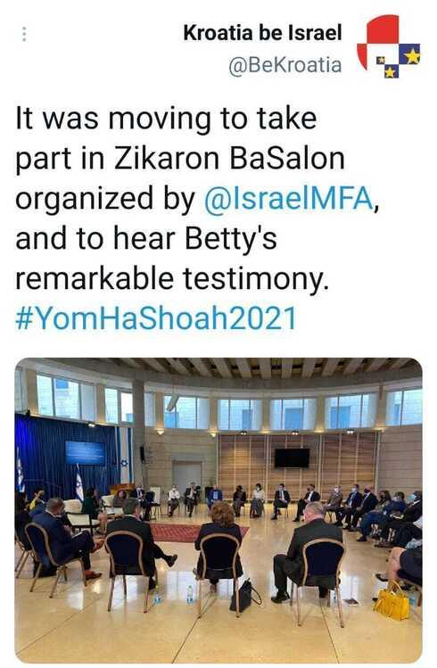 Publicación de la Embajada de Croacia en Twitter sobre el evento.