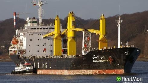 El barco iraní que fue golpeado en un ataque atribuido a Israel.