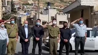 Homenaje a los judíos asesinados en la Shoá en el la ciudad drusa Majdal Shams.