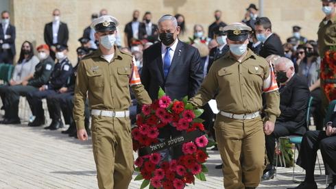 Benjamín Netanyahu en la ceremonia llevada a cabo en Yad Vashem.