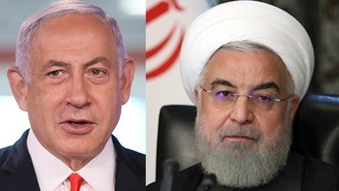 El primer ministro israelí, Benjamín Netanyahu, y el presidente de Irán, Hassan Rouhani.