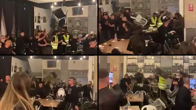 Diferentes momentos captados en el video de los incidentes.