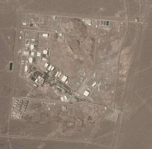 La base de Natanz afectada por la explosión.