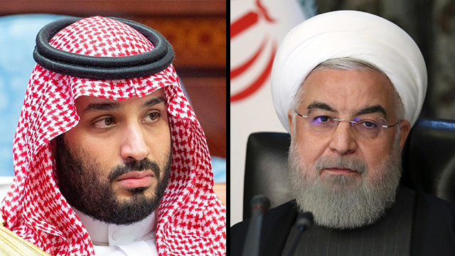 Bin Salman, príncipe heredero de Arabia Saudita y Hassan Rouhani, presidente iraní.