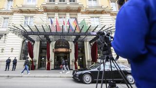 Gran Hotel de Viena, sede de las conversaciones sobre el acuerdo nuclear entre Irán y las potencias mundiales.