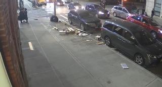 El momento del ataque en Brooklyn.