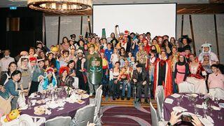 La comunidad judía de Taiwán durante la celebración de Purim, sin máscaras ni distancia social.