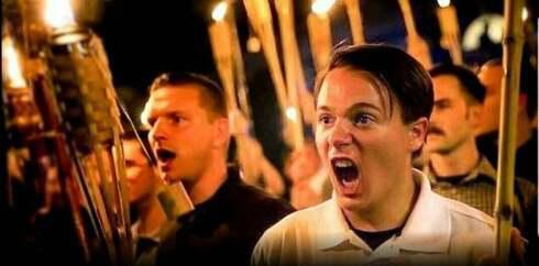 Marcha antisemita en Charlottesville, Estados Unidos.