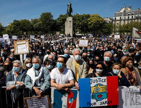 Protesta en París en repudio a la decisión del máximo tribunal de no juzgar al asesino de una mujer judía.
