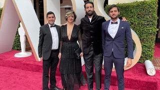 """El equipo de """"Ain Lebana"""" en la ceremonia de los Óscar."""
