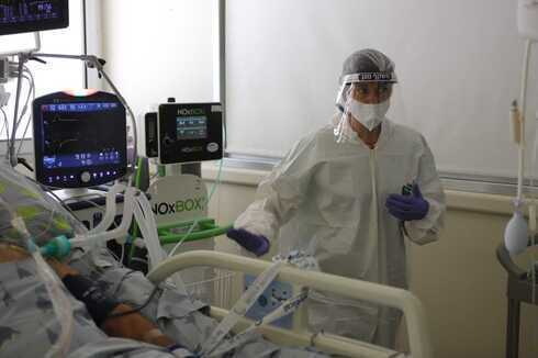 Sala de coronavirus en el Hospital Sourasky de Tel Aviv.