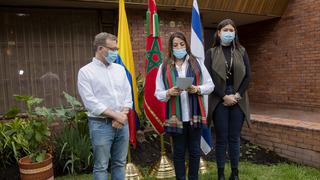 Siembra simbólica en la Residencia de la embajadora de Marruecos.