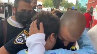 Incendio Abrazo Niño Policía