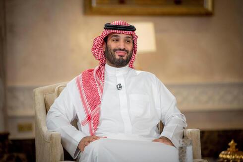 El príncipe heredero saudita, Bin Salman, durante la entrevista.