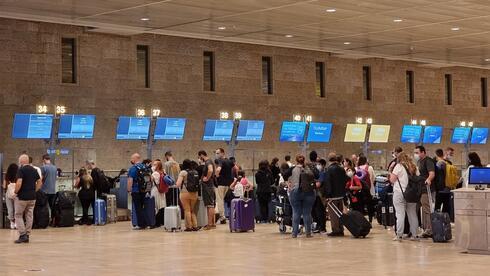 Aeropuerto Ben-Gurion. El Ministerio de Salud llamó a evitar viajes al exterior innecesarios.