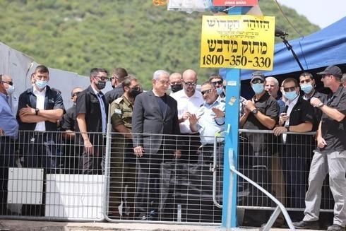 Netanyahu visitó el lugar y fue abucheado.