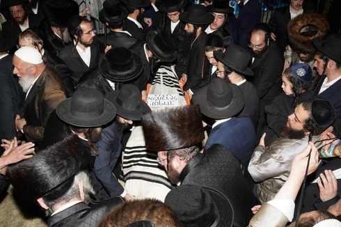 Funeral de los hermanos Elhadad, fallecidos en la tragedia de Merón.