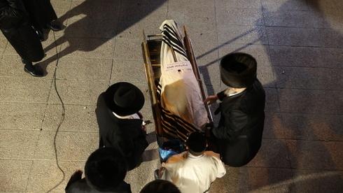 Funeral de una de las 45 víctimas fatales del desastre.