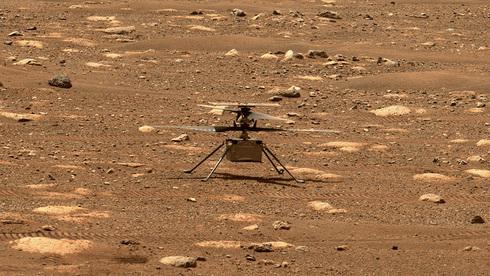 """""""Ingenuity"""", el dron-helicóptero que hizo historia en Marte."""