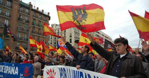 Una de las marchas realizadas hace algunos años por la ultraderechista Alianza Nacional.