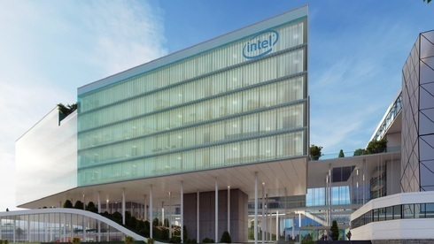 Modelo del centro de I + D que se construirá en Haifa.
