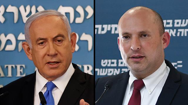 Benjamín Netanyahu, primer ministro de Israel y Naftali Bennett, líder de Yamina.