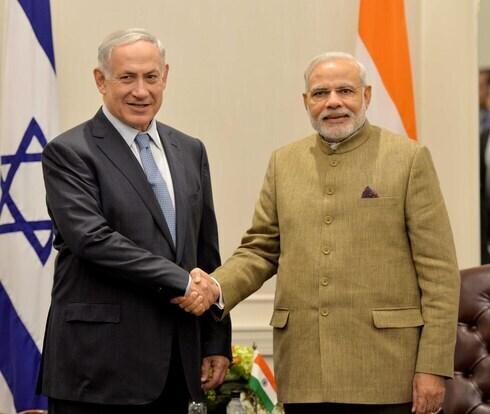 El primer ministro de Israel, Benjamin Netanyahu, y su homólogo indio Narendra Modi.