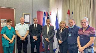 La comitiva israelí que viajó a Argentina.