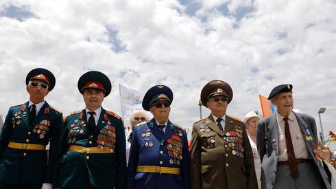 Veteranos del Ejército Rojo de la Segunda Guerra Mundial durante un acto en Knesset