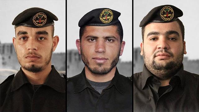Muhammad Abu al-Ata, Kamal Karika y Samah Abd al-Mamluk, los activistas palestinos eliminados por el Ejército de Israel.