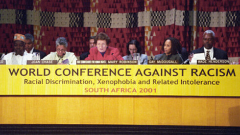 Conferencia Mundial Contra el Racismo celebrada en agosto del 2001 en Durban, Sudáfrica.