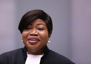 Fatou Bensouda, fiscal en jefe de la Corte Penal Internacional.