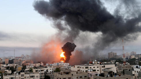 Bombardeos israelíes en Franja de Gaza.