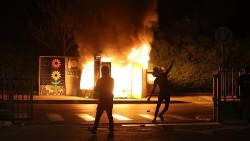 Disturbios en Lod el martes por la noche.
