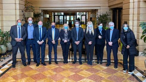 La comitiva israelí junto a las autoridades de la provincia de Tucumán.