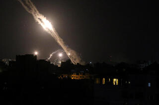 Misil Gaza Noche