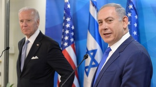 Benjamín Netanyahu, primer ministro de Israel, junto a Joe Biden.